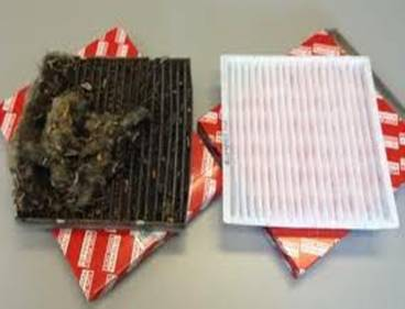 New Air filter vs. old aire filter